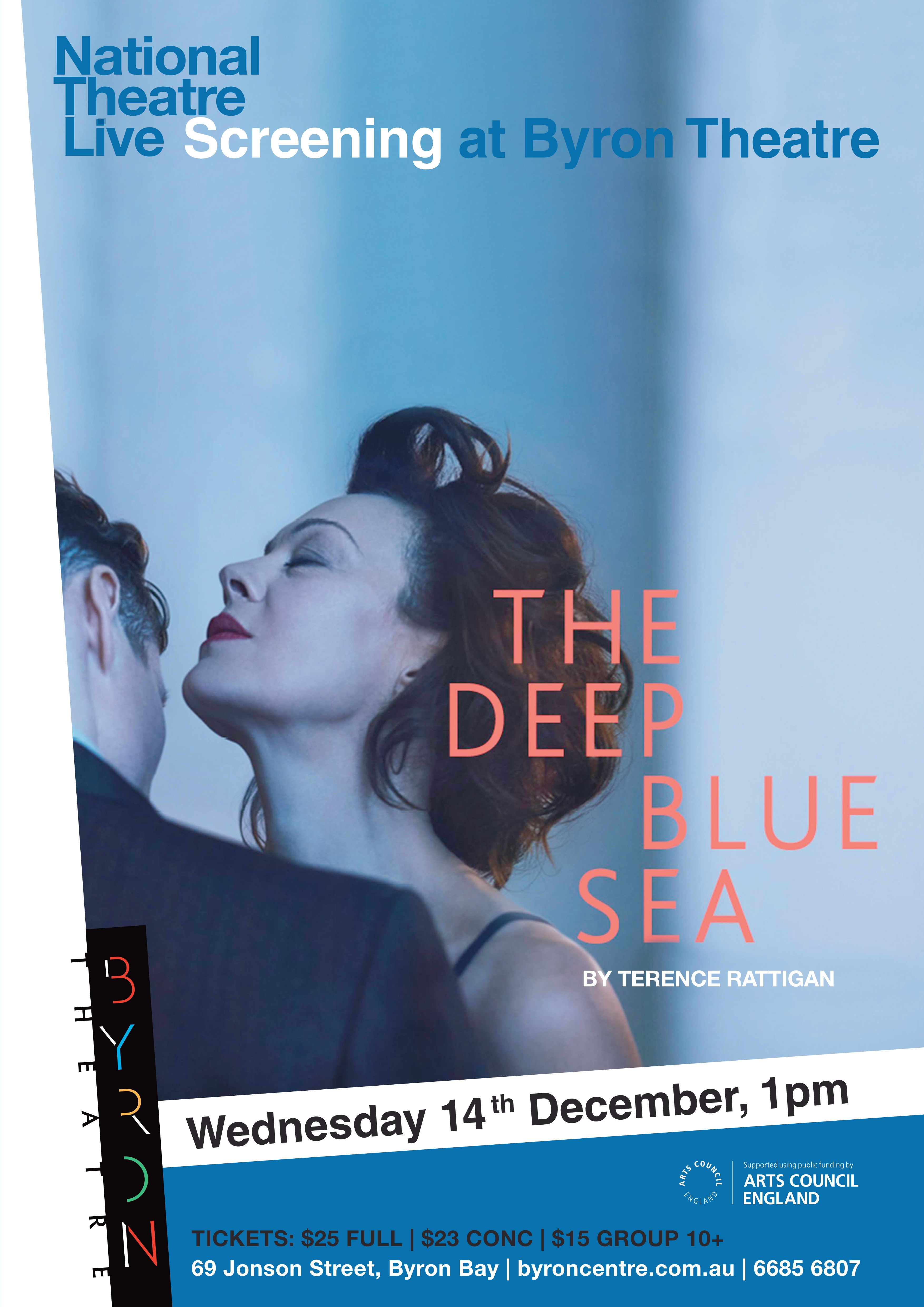 Flyer for The deep blue sea screening