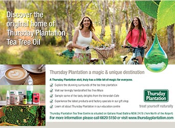 Thursday Plantation Advertisement