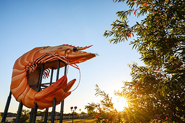 Big Prawn with tree to the side