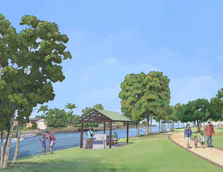Artist impression of the proposed Ballina Marina