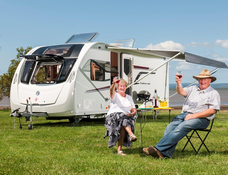 Fred Wright and his wife from Caravan and Motorhome On Tour