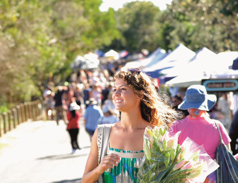 Purchase locally produced goods from a Northern Rivers market
