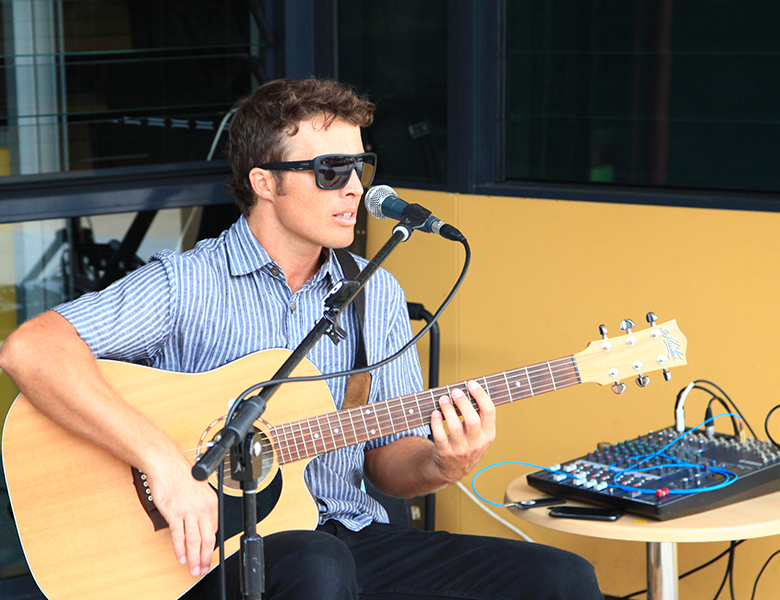 Ben Purnell performing at the Lennox Community Centre