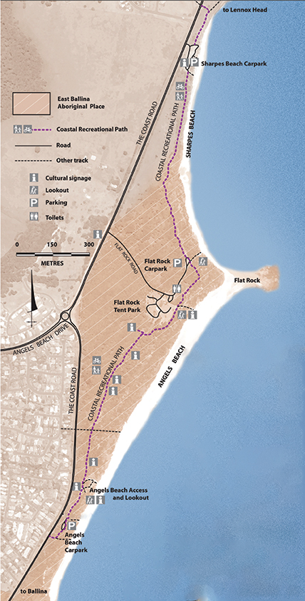 Map of the Aboriginal Cultural Ways interpretive panels
