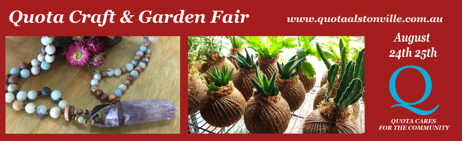 Quota Craft Garden Fair Home Page Banner