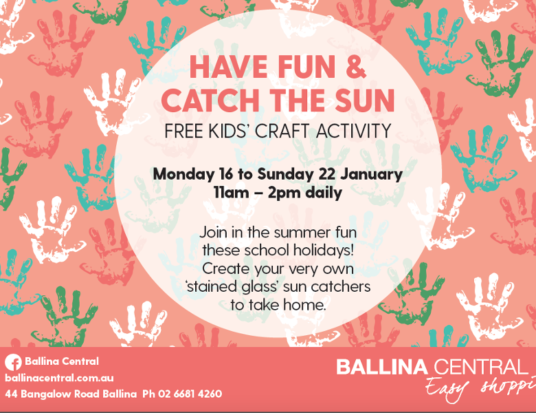 Ballina Central School Holidays 780x600