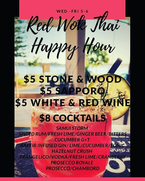 happy hour red wok