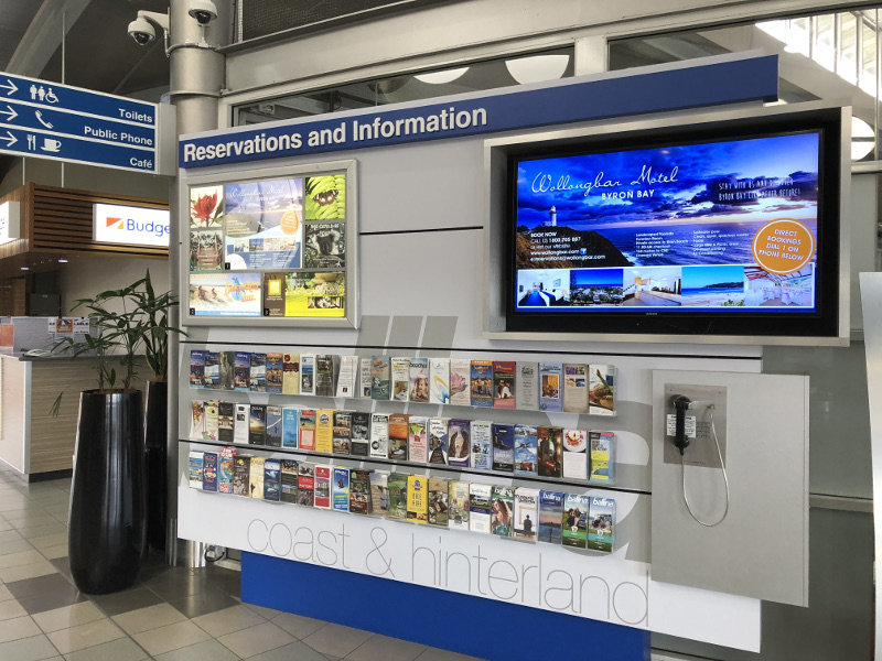 Airport Brochure Stand