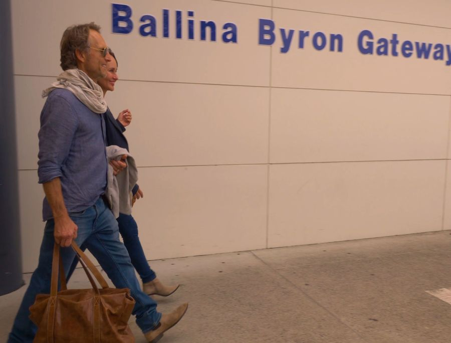 Couple arriving at Ballina Airport
