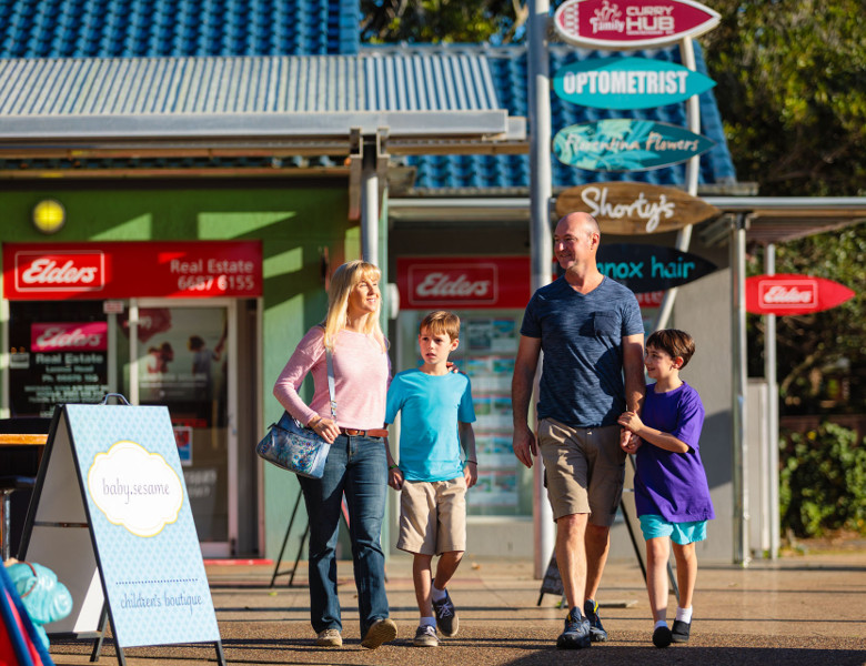 Family in Lennox Head CBD